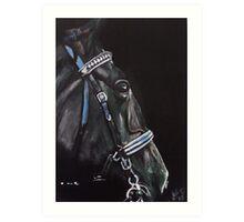 Dark Horse  - Study in Acrylics Art Print
