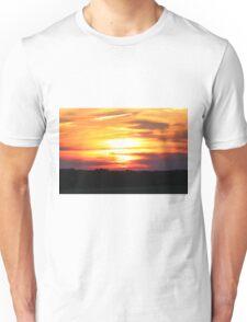 Sunset in Burnt Orange Unisex T-Shirt