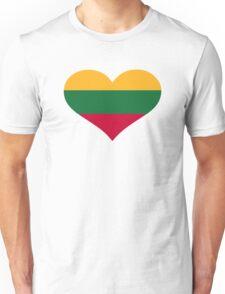 Lithuania flag heart Unisex T-Shirt
