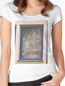 Window, Ghent, Belgium  (8 January, 2015) Women's Fitted Scoop T-Shirt
