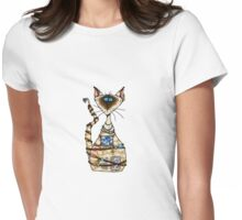 cat mummy Womens Fitted T-Shirt