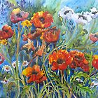 Dance of the Poppies by bevmorgan
