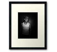 Smile. Framed Print