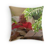 """""""Caught Napping on the Job"""" Throw Pillow"""