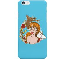 Total Harry potter fangirl with wizard wand, snowy owl and Stag Patronus iPhone Case/Skin