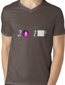 "2girls 1 ""mug"" Mens V-Neck T-Shirt"