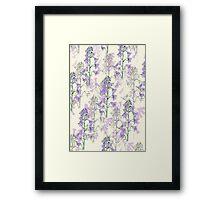 wild purple flowers Framed Print