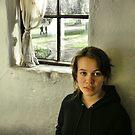 Portrait of a girl near window by observer11