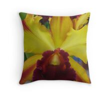 orchid in full bloom  Throw Pillow