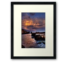 Rainbow Rocks sundown. Framed Print