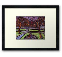 Moonlit garden Framed Print