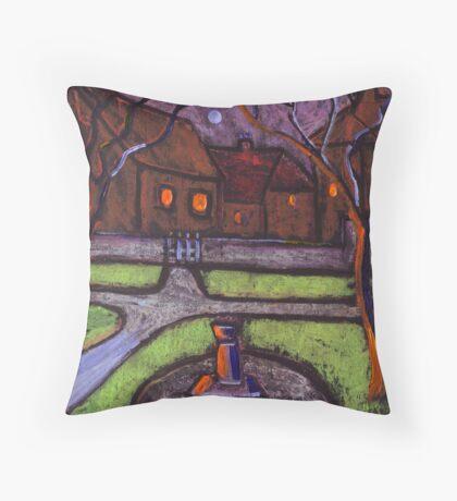 Moonlit garden Throw Pillow
