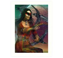 raven woman Art Print