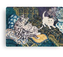 Cats Playing Canvas Print