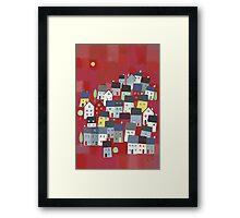 Red village Framed Print