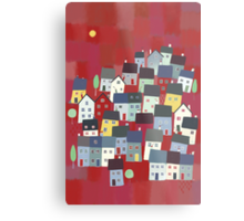 Red village Metal Print