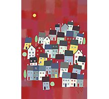 Red village Photographic Print