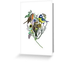 painted bird collage Greeting Card