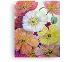 Colourful Poppies Canvas Print