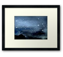 Clear Starry Night © Framed Print