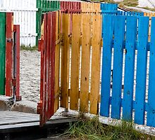 Colorful Fences by Marylou Badeaux