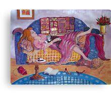 Young Woman Asleep Canvas Print