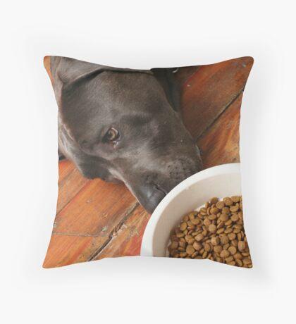 boring food... Throw Pillow