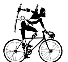 Attack of the Bicycle Ninja by grosvenordesign