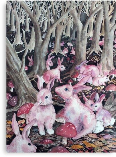 Pink Rabbits by Deborah Conroy
