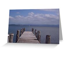 Jetty at Berkeley West, Lake Illawarra, NSW Greeting Card
