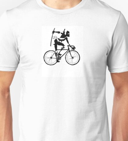 Attack of the Bicycle Ninja Unisex T-Shirt