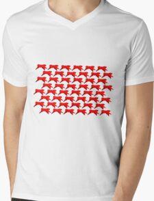 Ribbon Repeating Mens V-Neck T-Shirt
