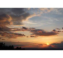 sunset in the smokies Photographic Print