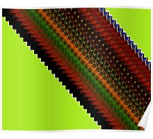 Earthy Diagonal Poster