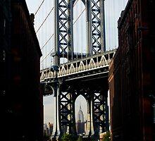 Brooklyn Bridge & Empire State by greenjewels77