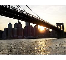 Brooklyn View: East River Slant Photographic Print