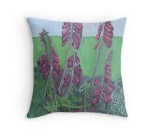 Foxgloves At Hendra Throw Pillow