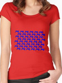 Blue Ribbon Repeating Women's Fitted Scoop T-Shirt