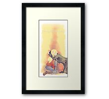 I thought I lost you Framed Print