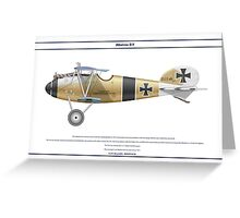 Albatros D.V Jasta 6 - 1 Greeting Card