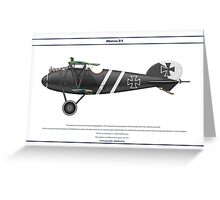 Albatros D.V Jasta 7 - 1 Greeting Card