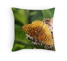 Sharing the milkweed Throw Pillow