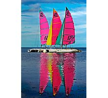 Three Sails Photographic Print