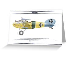 Albatros D.V Jasta 10 - 1 Greeting Card
