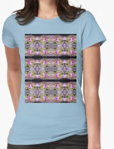 pink bleeding hearts #2 tinted pattern Womens Fitted T-Shirt