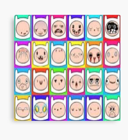 Many Faces of FINN Canvas Print