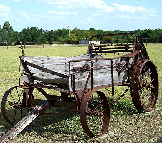 Old Wagon Plow by Glenna Walker