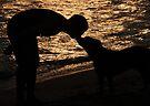 Sunset kiss by Miron Abramovici