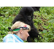 Touched by Gorillas Photographic Print