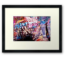 Neon Fun Framed Print